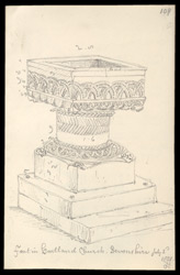 Hartland Church Font, Devon, 1821